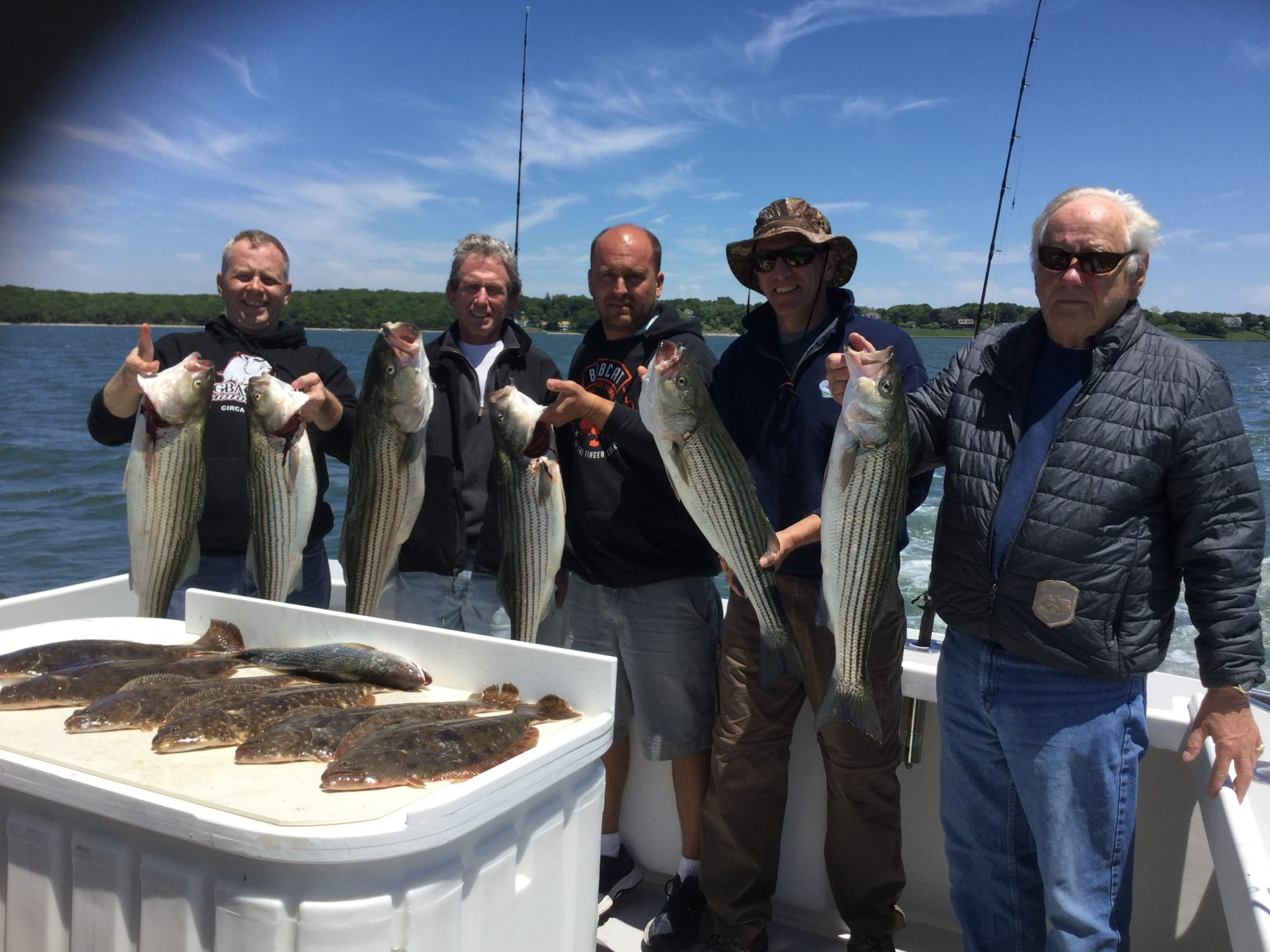 striped bass charter fishing report longevity custom
